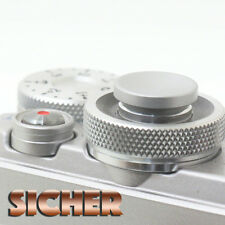 SICHER Soft Release Shutter Button for Cameras. Quality Brass. SILVER Concave.