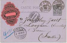 FRANKREICH 1880/95 Allegorie 10 C neun GA's teilw. Zusatzfrankatur SUPERSAMMLUNG