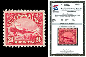 Scott C6 1923 24c Biplane Airmail Issue Mint Graded XF 90J NH with PSE CERT!