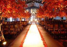 50 ft Satin Aisle Runner Bridal Wedding 100% Polyester Satin Fabric White