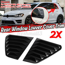 For VW GOLF MK7 MK7.5 GTI R 1/4 Quarter Side Window Louver Scoop Cover Vent 2PCS
