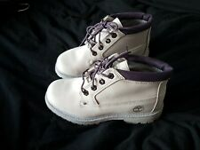 Timberland Waterproof Nellie Purple Boots worn once  size 3.5 cost £100 new