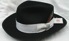New Black Zoot Hat Fedora Halloween Costume Gangster Pimp Small(6 3/4 - 6 7/8)