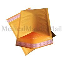 """500 #000 4x8 ECOLITE KRAFT BUBBLE MAILERS PADDED ENVELOPE 4""""x8"""" - Made In USA"""