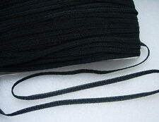 """GB77 3/8"""" Black Double Loop Braided Gimp Edging Lace Sewing/Upholstery10yds"""
