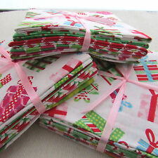 Bright modern Christmas prints 100% cotton 5 x Fat Quarter Bundle