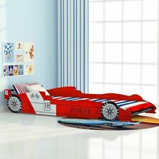 vidaXL Children's Race Car Bed 90x200cm Red Kids Toddler Single Cot Furniture