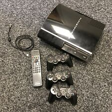 Sony Playstation 3 80GB Fat Console With Leads 3 Controllers & Remote