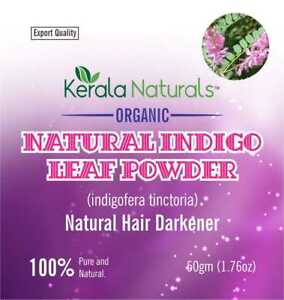 Indigo powder natural hair color dye - pure and fresh 50gm x 3 Free Shipping
