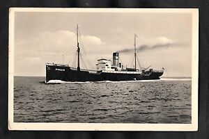 Posted 1953 from Hamburg View of the Cargo Ship Dampfer Pinguin