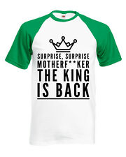Conor McGregor The King Is Back Contrast Fitted T-Shirt Unisex S-XL Top Quality