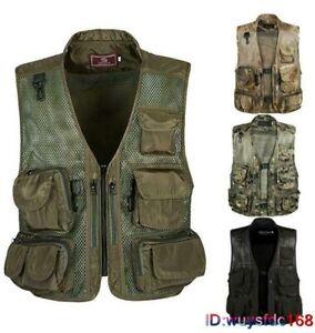 Men's Camouflage Multi-Pocket Travelers Fishing Photography Vest Outdoor Jacket