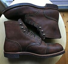 RED WING 8111 IRON RANGER AMBER HARNESS MENS BOOTS SIZE US 11.5 MADE IN USA