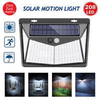 208 Outdoor LED Solar Power PIR Motion Sensor Wall Lights Garden Lawn Yard Lamps