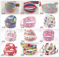 Wholesale! 1-10 yds 1'' 25mm printed grosgrain ribbon Hair bow sewing select