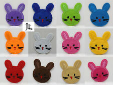 12pcs Fabric sticker patches Iron/Sew on Embroidered applique Cute bunny Pattern