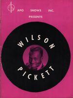 WILSON PICKETT / SAM & DAVE 1966 TOUR VINTAGE CONCERT PROGRAM BOOK BOOKLET