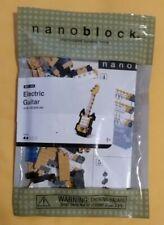 Nanoblock Black & Yellow Electric Guitar 160 Pcs Micro Building Blocks Brand New