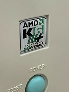 Custom AMD K6 2 3 III Athlon XP 1x1 DOMED Computer Case Badge Sticker Retro