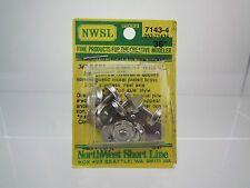 "NWSL HO SCALE 7143-4 36"" NICKEL PLATED BRASS 3/32"" STAINLESS STEEL HALF-AXLE"