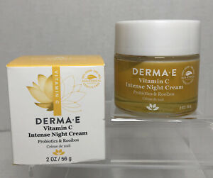 DERMA E - Vitamin C Intense Night Cream Probiotics & Rooibos - 2oz (56g)