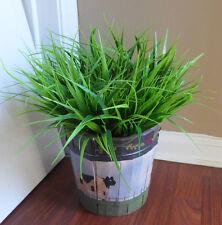 10 Bunch Grasses Artificial Plastic Bushes Home Garden Decor