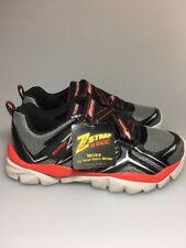 Kids Skechers Electronz Z Strap Sneaker Size 2.5 Black Red No Tie