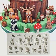 Hot! Silicone Forest Animal Deer Owl Chocolate Mold Cake Fondant Sugarcraft Soap