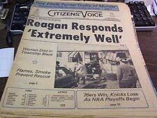 THE CITIZENS VOICE - 4/1/1981 - REAGAN RESPONDS EXTREMELY WELL - COMPLETE