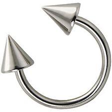 Two ( Circular Barbell 316L Stainless Steel Cone Ring 14 Gauge / 8mm in Diameter