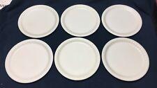 LOT OF 6 ROUND SYRACUSE DINER PLATES - 9.5 DIAMETER - WHITE / RESTAURANT WARE