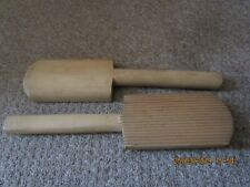 """Vintage Old Wooden Butter Pats or Butter """"Paddles"""""""