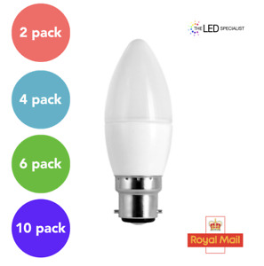 LED Candle Light Bulbs 5W - 50w BC B22 Bayonet Warm White Dimmable  2 4 8 12 16