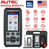 AUTEL MaxiCheck Pro MD806 PRO OBD2 Diagnostic Tool Scanner EPB ABS SRS SAS DPF
