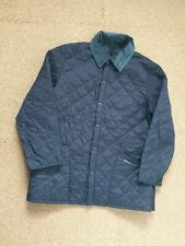 Barbour Quilted Liddesdale Jacket Large Navy