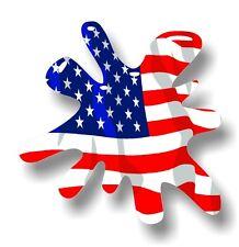 Retro Vecchia Scuola SPLAT & American Stars & Stripes BANDIERA Auto Adesivo Vinile Decalcomania