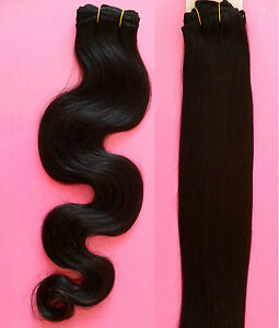 "Premium Brazilian Hair Extension Weft 100% Human Hair AAA Straight 20"" 100g"