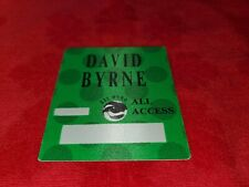 Vintage David Byrne Rei Momo All Access Backstage Pass