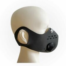 """Long Haul"" Neoprene Respirator Mask w/ valve &changeable filters-3 extra filter"