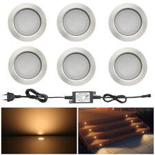 6er Set 1W 12V LED Terrasse Leuchte Bodeneinbaustrahler Gartenlampe wasserdicht