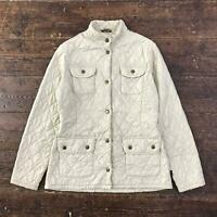 BARBOUR Womens L176 UTILITY FLYWEIGHT QUILT Jacket | Country Coat | UK 10 Beige