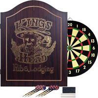 King's Head Value Dartboard Set Beginners Double Sided Thin Dart Board
