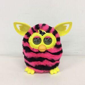 Hasbro Furby Pink & Black Stripped Working Electronic Pet  #319