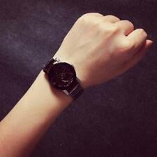 Fashion Luxury Women Lover Compass Stainless Steel Quartz Wrist Watches Black MT