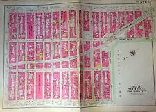 1908 BROMLEY CARNEGIE HALL COLUMBUS CIRCLE LINCOLN SQUARE MANHATTAN ATLAS MAP