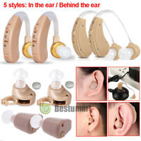 A Pair of Digital Hearing Aid Aids Kit Behind/In the Ear Sound Voice Amplifier