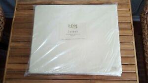 RARE $280+tax SDH Top Flat Sheet Queen Cotton Sateen 483 TPI/TC Tan Italy NWT