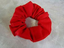 Solid Red Handmade Hair Scrunchie 100% Cotton