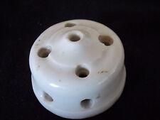 Accessoire électrique ancien porcelaine (passe fil,commutateur,prise,plafonnier)