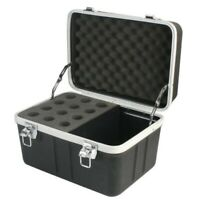 12 Microphone ABS Carrying Case Road Mic Storage Equipment Flight Box